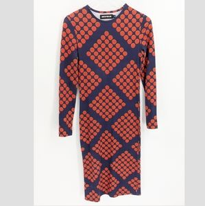 House of Holland Knit Bodycon Patterned Midi Dress